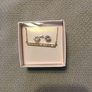 NWT bar necklace and stud earring set
